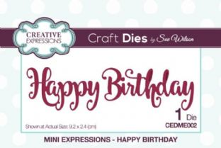 Mini Expressions - Happy Birthday Die